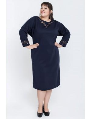 Женское платье большого размера Шайли (синий)