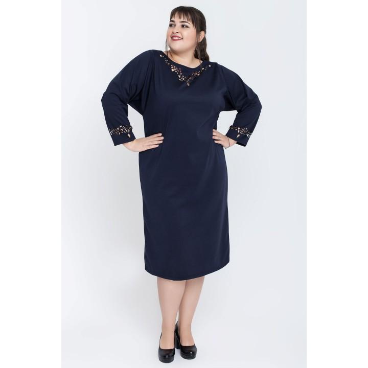 Платье Шайли (синий)