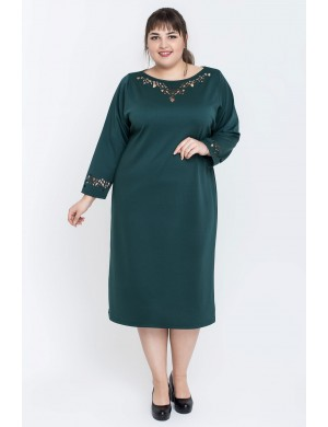 Женское платье большого размера Шайли (зеленый)
