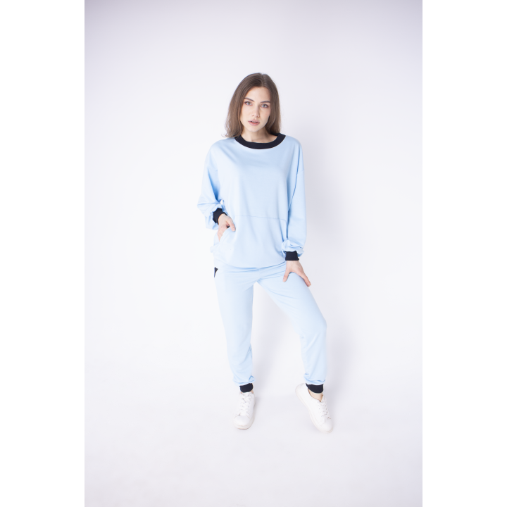 Спортивный костюм женский Орио (голубой)