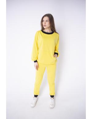 Женский спортивный костюм Орио (желтый)