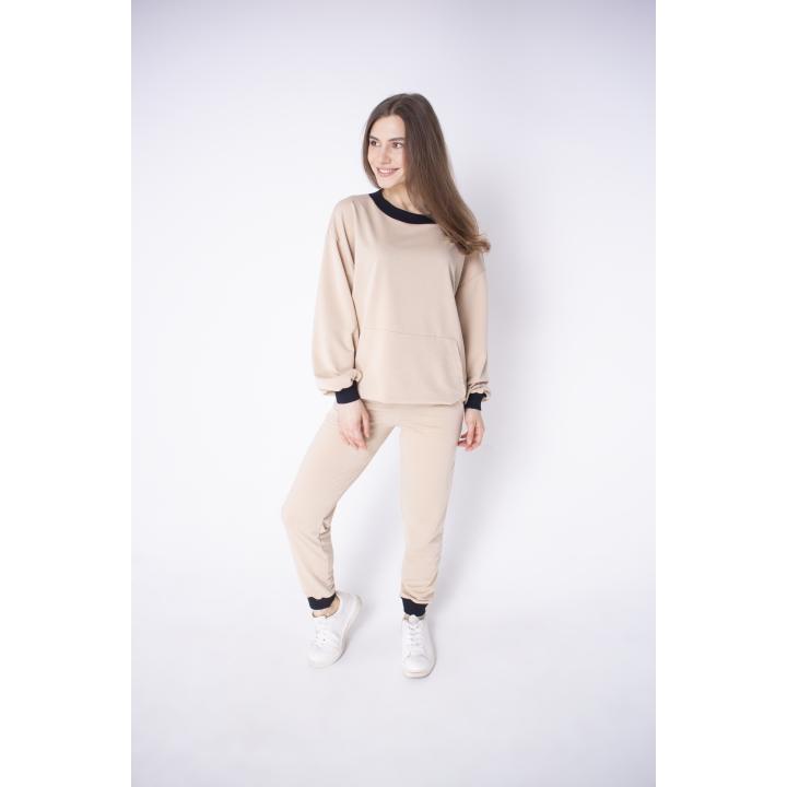 Спортивный костюм женский Орио (бежевый)