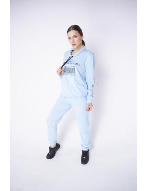 Спортивный костюм Штрихкод (голубой)