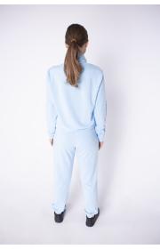 Купить женский спортивный костюм Штрихкод (голубой)