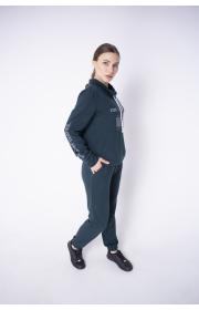 Купить женский спортивный костюм Штрихкод (зеленый)