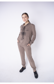 Купить женский спортивный костюм Штрихкод (коричневый)
