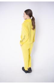 Купить женский спортивный костюм Штрихкод (желтый)