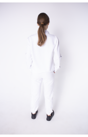 Купить женский спортивный костюм Штрихкод (белый)