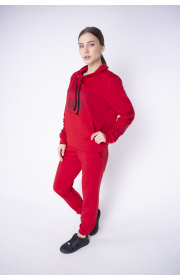 Купить женский спортивный костюм Штрихкод (красный)