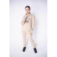 Женский спортивный костюм Штрихкод (бежевый)