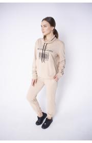 Купить женский спортивный костюм Штрихкод (бежевый)