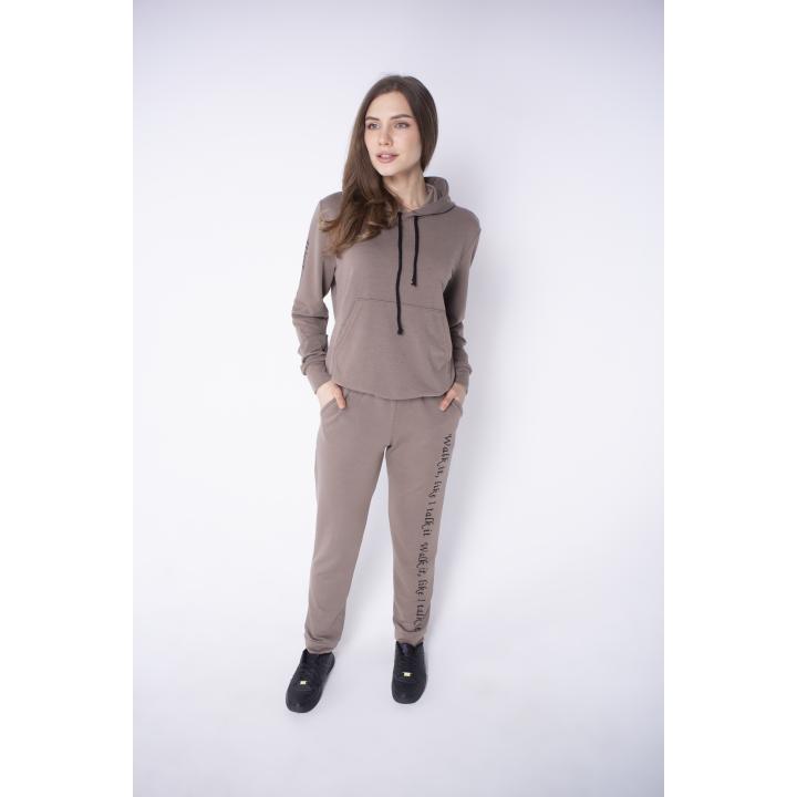 Спортивный костюм женский Кенди (коричневый)