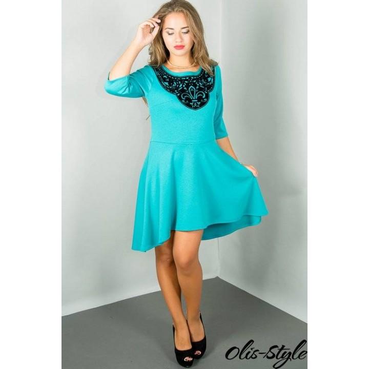 Платье Марсэлла (бирюза) Оптовая цена
