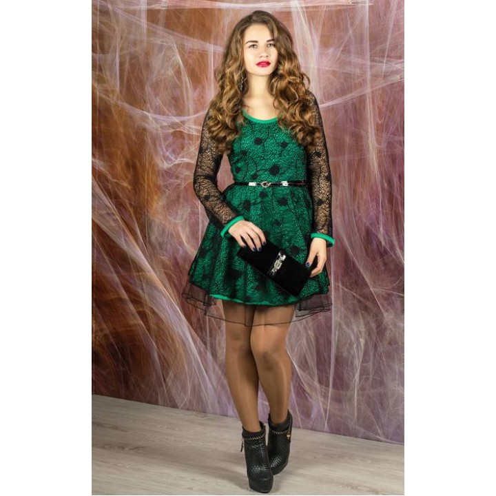 Платье Искушение (черный с ментолом)     оптовая цена