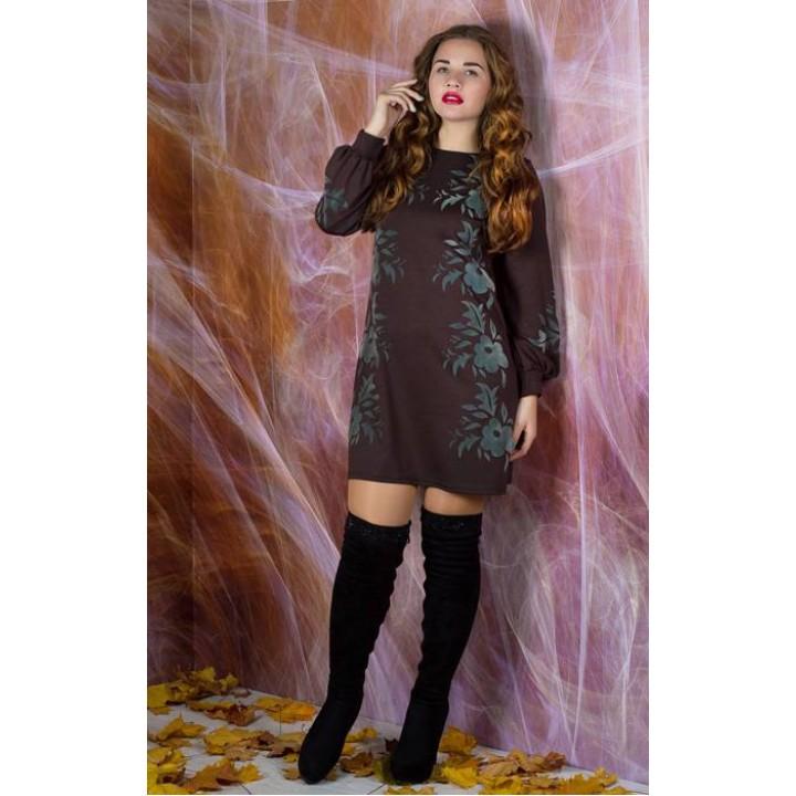 Платье Дольче (коричневый)     оптовая цена