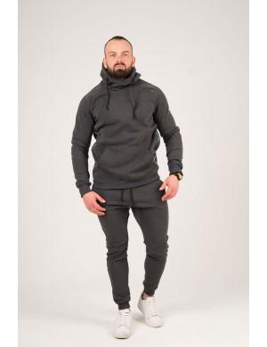 Мужские спортивные штаны с лампасами (серый)