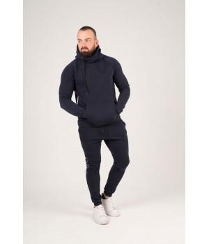 Мужские спортивные штаны с лампасами (синий)