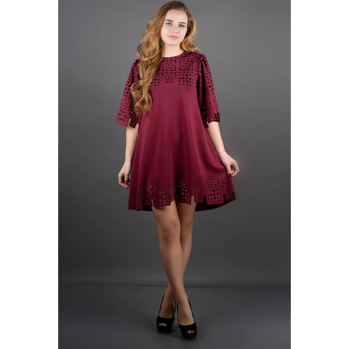 Платье Айви (бордовый)