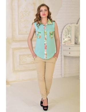 Женская рубашка Одилия (ментол)   оптовая цена