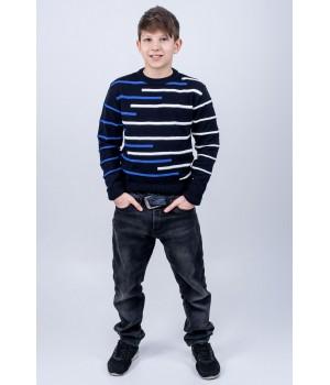 Детский свитер Илья (синий)