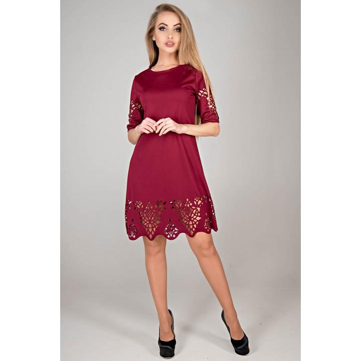 Платье Фисента (бордовый)