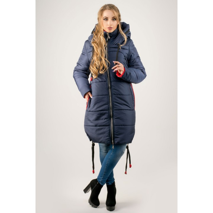 Зимняя куртка Лиана (синий)