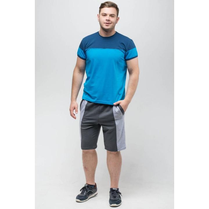 Мужская футболка Фердинант (бирюза) оптовая цена