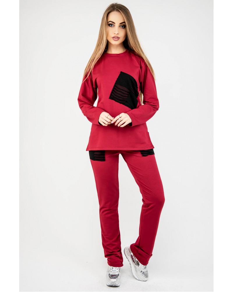 Спортивный костюм Синди (бордовый)