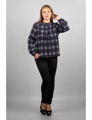 Женская рубашка Марчелло (синя-красная)