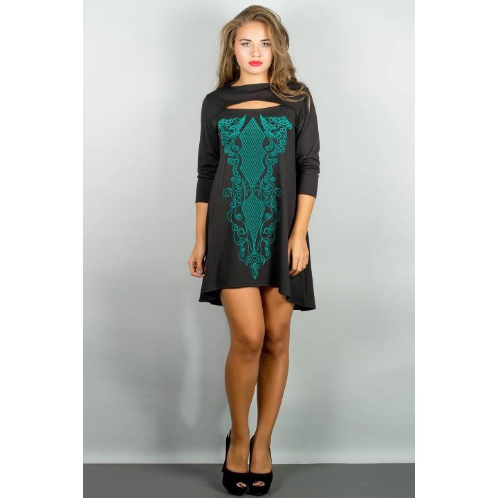 Платье Соланж (черный) Оптовая цена