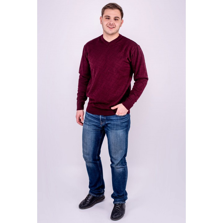 Мужской свитер Гриша (бордовый)