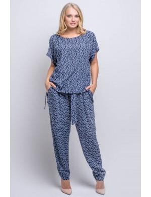Женские брюки большого размера Руби (синий луивитон)