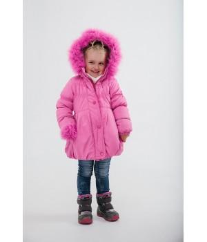 Зимняя детская куртка Бемби (розовый)