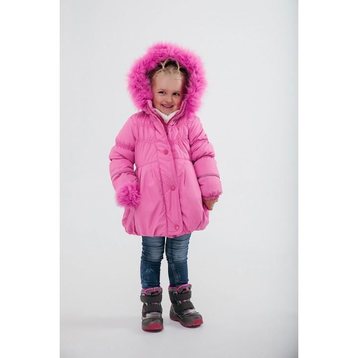 Зимняя детская куртка Бемби (розовый) Оптовая цена