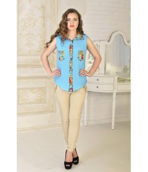 Рубашка Одилия (бирюза)