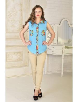 Женская рубашка Одилия (бирюза)