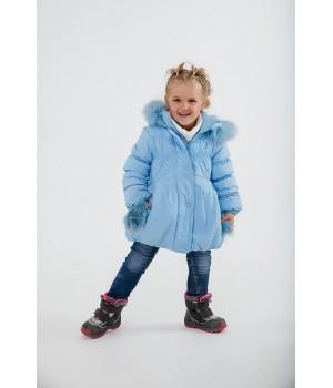 Зимняя детская куртка Бемби (голубой)