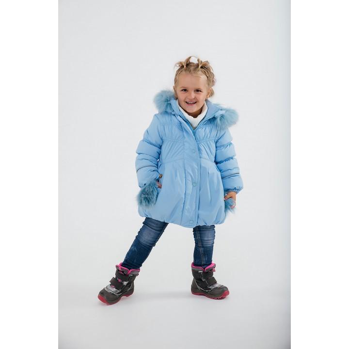 Детская зимняя куртка Бемби (голубой) Оптовая цена