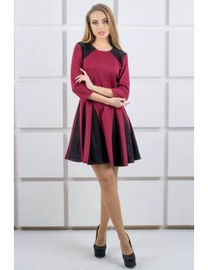Платье Хэлли (бордовый)
