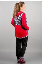 Спортивный костюм Магнолия (красный цветы)
