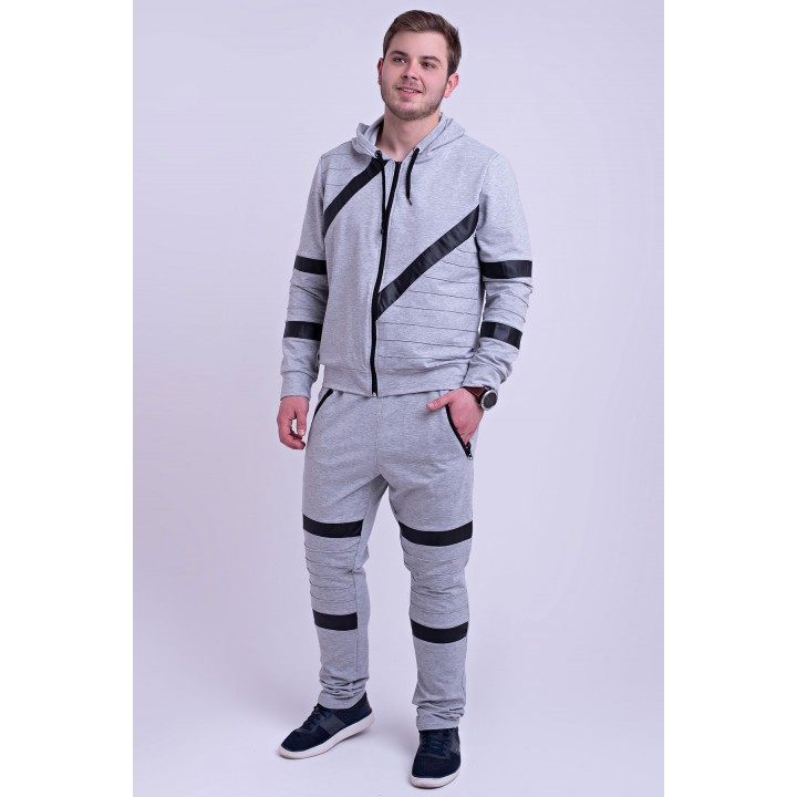 Мужской спортивный костюм Конти (серый)