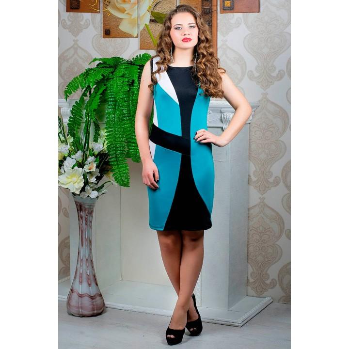 Платье Мидея (бирюза) оптовая цена