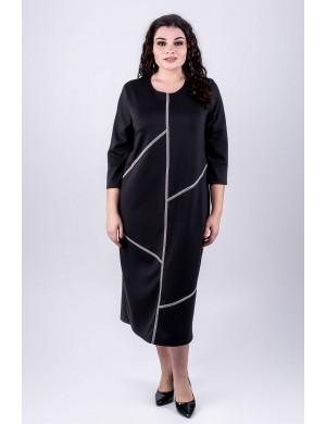 Женское платье большого размера Мери (черный)