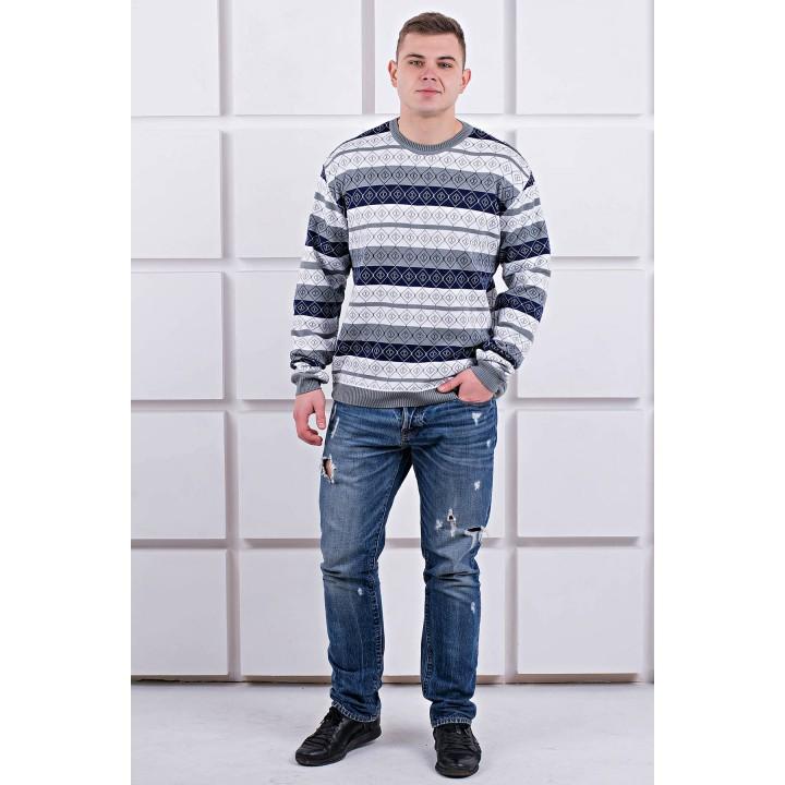 Мужской свитер Акмаль толстый (серый) оптовая цена