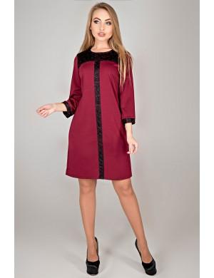 Платье Таура (бордовый)