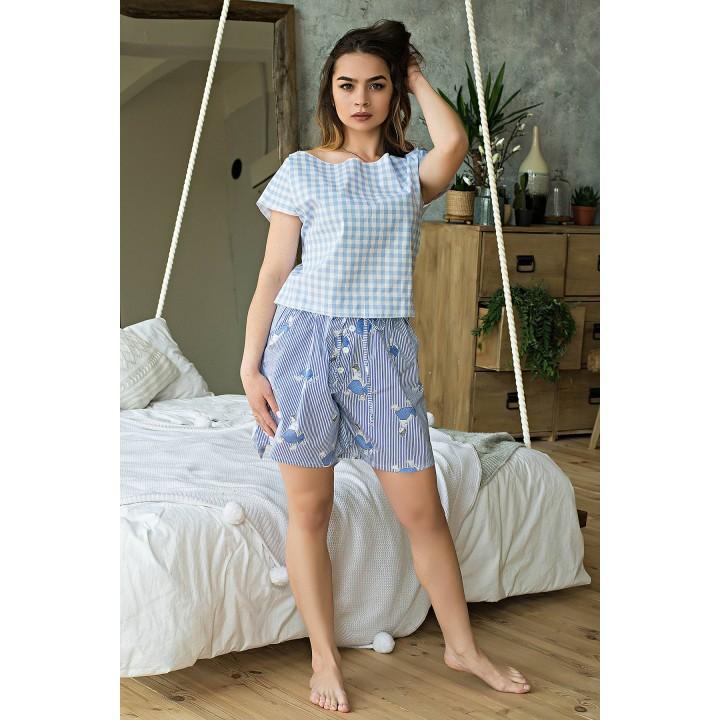 Пижама Флер (голубой) оптовая цена