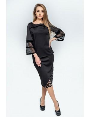 Женская юбка Аурика (черный)