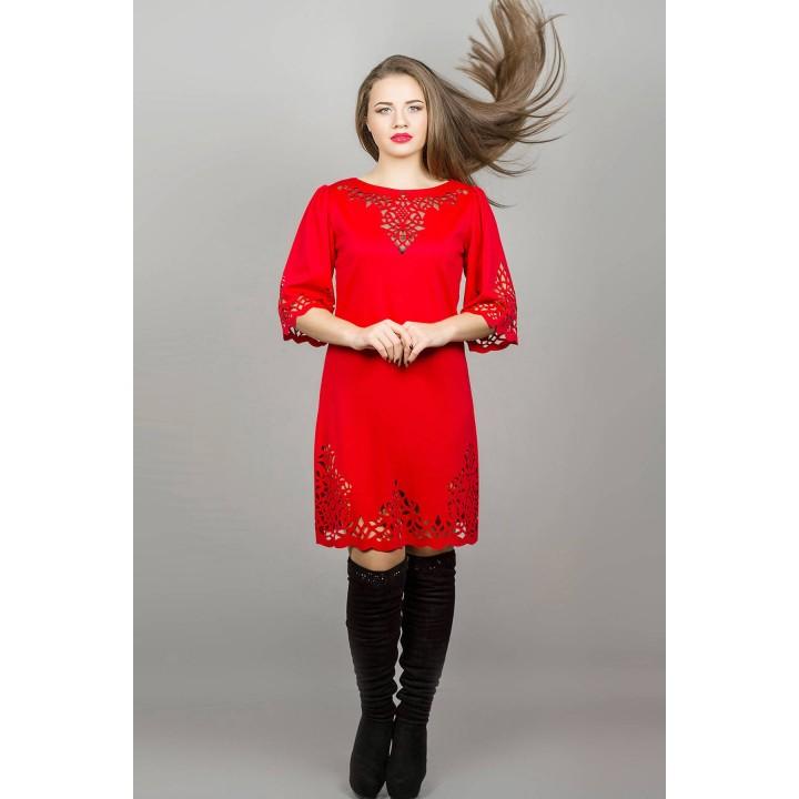 Платье Валенсия (красный) Оптовая Цена