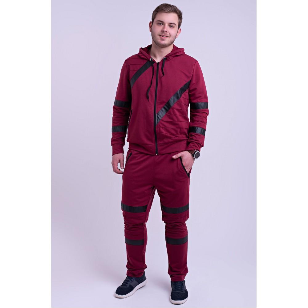 7bdb38ec549 Мужской спортивный костюм Конти (бордовый) Оптовая Цена