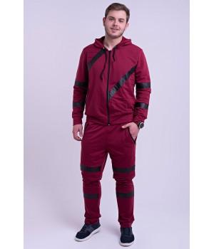 Мужской спортивный костюм Конти (бордовый)